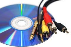 Connecteurs et le disque Photo stock