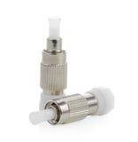 connecteurs optiques de fibre, St, Sc et FC d'isolement sur le backgrou blanc photos libres de droits