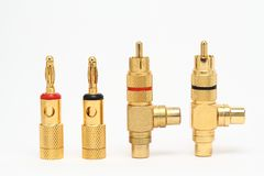 connecteurs sonores Photo libre de droits