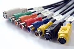 Connecteurs sonores et visuels Images stock