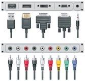 Connecteurs visuels et sonores de vecteur Photos stock