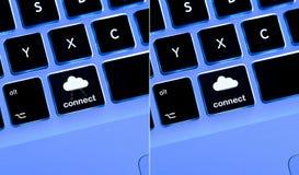 Connectez au nuage Images libres de droits