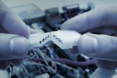 Connectez deux câbles Images libres de droits
