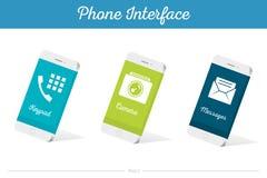 Connectez les modèles du vecteur 3D Smartphone avec des symboles de media Images libres de droits