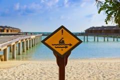 Connectez-vous l'île des Maldives photo libre de droits