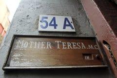 Connectez-vous l'entrée pour enfanter la Chambre, la résidence de Mère Teresa dans Kolkata photo stock