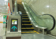 connectez-vous l'escalator Image libre de droits