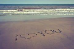 Connectez-vous la plage de sable Image libre de droits