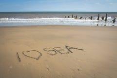 Connectez-vous la plage de sable Photos libres de droits