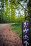 Connectez-vous un sentier de randonnée à Philadelphie Photographie stock libre de droits