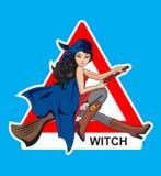 Connectez-vous une sorcière Photo stock