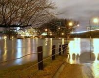 connecticut översvämmade floden royaltyfri fotografi