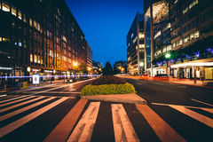 Connecticut-Allee nachts, in Washington, DC Stockbilder