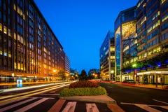 Connecticut-Allee nachts, in Washington, DC Stockfotografie