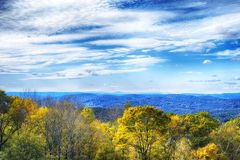 Connecticut autumn landscape new england. A landscape picture overlooking western connecticut from the summit of Mohawk Mountain in Cornwall Connecticut in stock photos