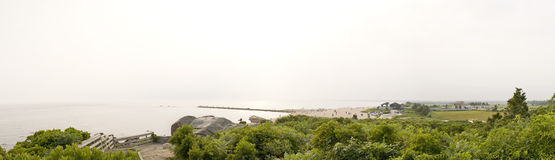 Connecticut Beach Panorama Stock Images