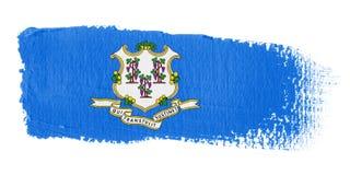 Connecticut brushstroke flagę Fotografia Stock