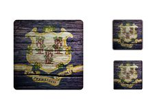 Connecticut Flag Buttons Royalty Free Stock Images