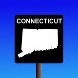 Connecticut highway sign Stock Photos