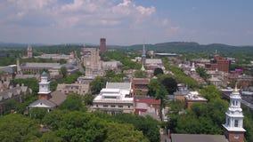 Connecticut New Haven julio de 2017 aéreo Sunny Day 4K inspira 2 almacen de metraje de vídeo