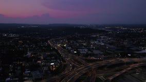 Connecticut New Haven a noite aérea 4K do julho de 2017 inspira 2 video estoque