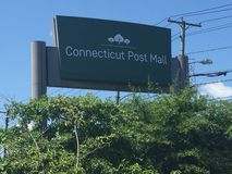 Connecticut Post Mall. The sign of the Connecticut Post Mall in Milford, Connecticut Stock Image