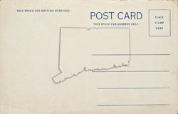 Connecticut Postcard Royalty Free Stock Image