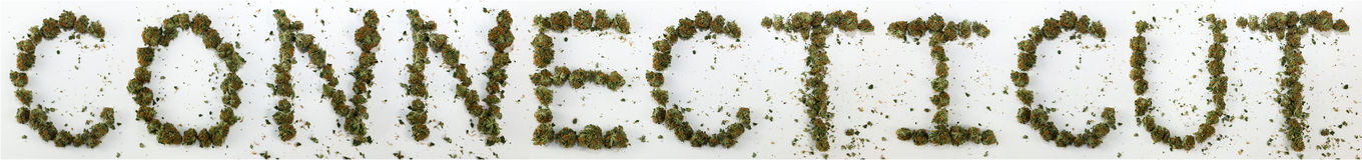 Connecticut soletrou com marijuana Imagem de Stock Royalty Free