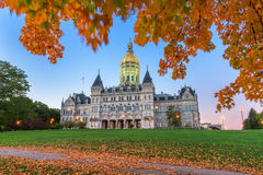 Connecticut State Capitol. In Hartford, Connecticut, USA during autumn Royalty Free Stock Images
