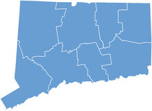 Connecticut State by counties stock images