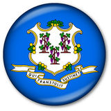 Connecticut State Flag Button Royalty Free Stock Photos