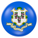 Connecticut State flag button Stock Photo