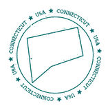 Connecticut-Vektorkarte Lizenzfreie Stockfotos