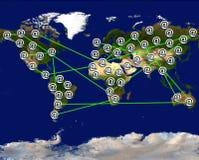 Connectin de wereld royalty-vrije stock afbeeldingen