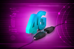 Connecting cable with 4g Stock Photos