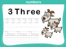 Connecting dot and printable numbers exercise Stock Image