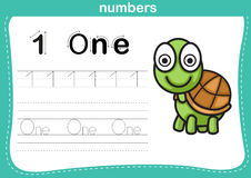 Connecting dot and printable numbers exercise Royalty Free Stock Image