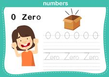 Connecting dot and printable numbers exercise for preschool and kindergarten kids stock illustration