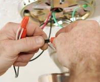 connecting electrician wires Στοκ Φωτογραφίες