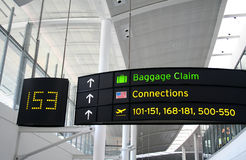 Connecting Flight. A connecting Flight Sign in an airport Stock Photography