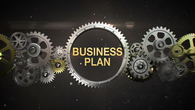 Connecting Gear wheels, and make keyword, 'BUSINESS PLAN' (included alpha)