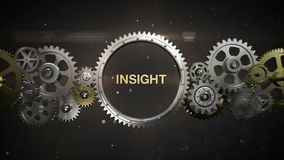 Connecting Gear wheels, and make keyword, 'INSIGHT' (included alpha)