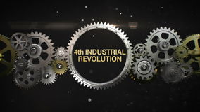 Connecting Gear wheels and make keyword, '4th Industrial Revolution' (included alpha)