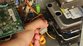 Connecting Hard Disk Drive stock video footage
