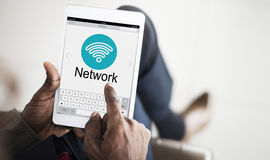 Connecting Internet Network Wifi Concept Stock Photography