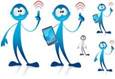 Connecting Mascot. Illustration - wifi communication Royalty Free Stock Photography