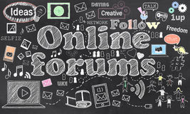 Connecting in Online Forums. With Social Media Royalty Free Stock Photo
