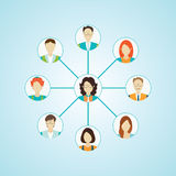 Connecting people icons set isolated. Connecting people icons set isolated ,Character cartoon, social media conceptual vector illustration Royalty Free Stock Image