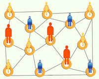 Connecting people. An illustration of people connecting concept Stock Images