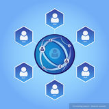 Connecting people - Network concept Royalty Free Stock Images